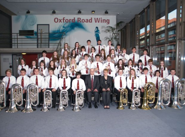 Carnoustie and district brass band group shot