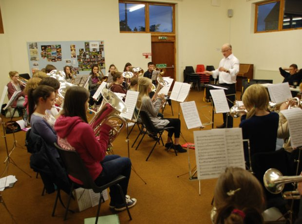 Carnoustie and district brass band rehearsal
