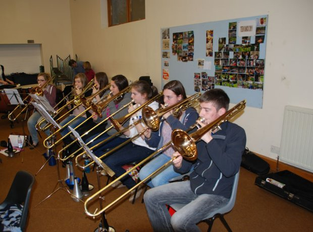 Carnoustie & District Youth Brass Band band practi