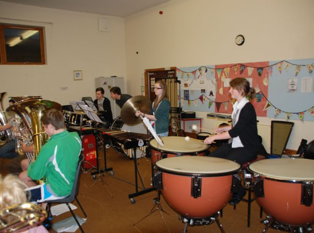 Carnoustie & District Youth Brassband percussion