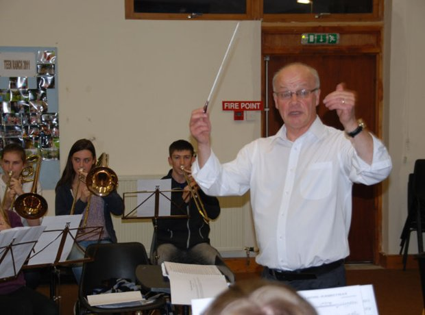Conducting the Carnoustie & District Youth Brass
