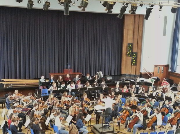 City of Belfast Youth Orchestra rehearsal
