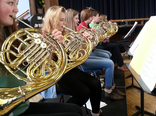 City of Belfast Youth Orchestra horn section