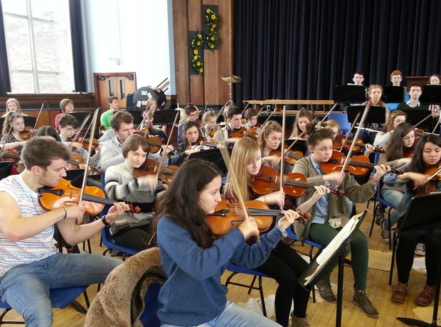 City of Belfast Youth Orchestra violins