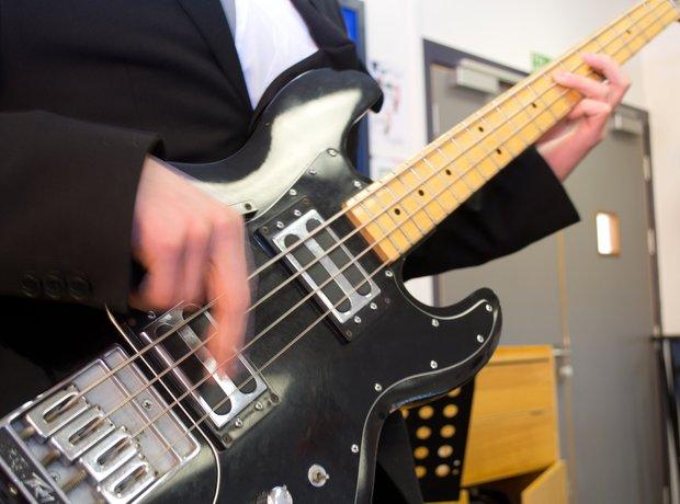 Double Helix bass guitar