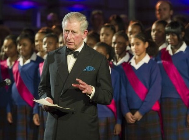 HRH Prince Charles with Maria Fidelis Gospel Choir