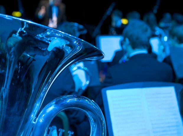 Birmingham Schools Brass Band in rehearsal for the
