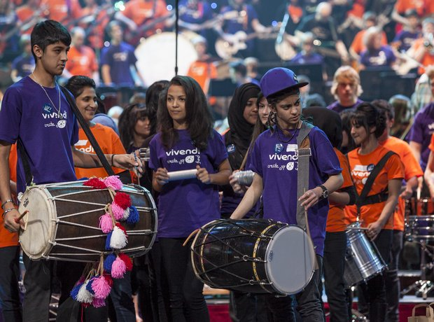 Bradford Massed Ensemble schools prom rehearsal 3