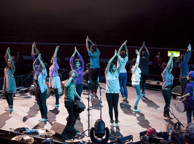 Bradford Massed Ensemble schools prom rehearsal 8