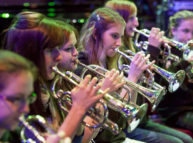 carnoustie brass band rehearsal 9
