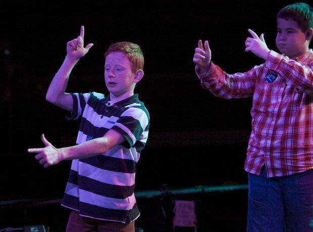 Llantarnam School Deaf Choir rehearse for their pe