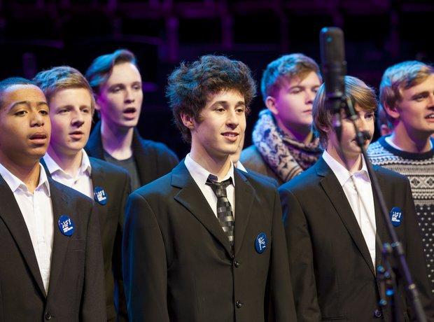Thomas Telford Senior School Choir rehearse for th