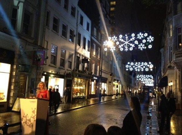 Katherine Jenkins turns on the St James Christmas