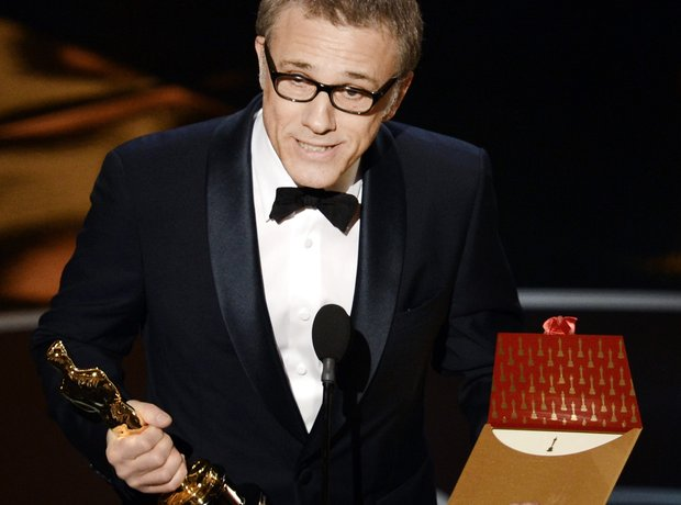 Christoph Waltz  at the Oscars 2013 awards show wi