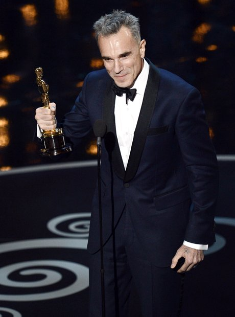 Daniel Day-Lewis on stage at the Oscars 2013