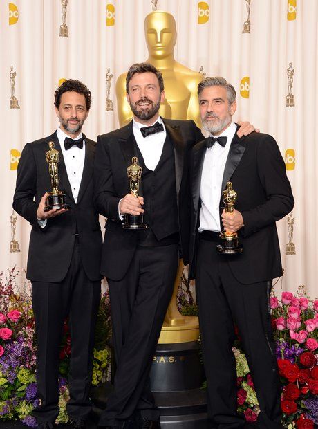 Grant Heslov, Ben Affleck and George Clooney at th