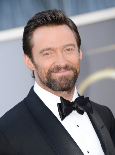 Hugh Jackman attends the Oscars 2013 red carpet