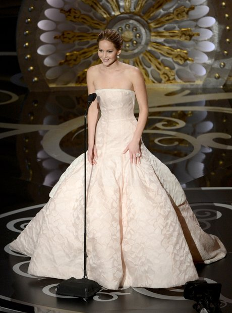 Jennifer Lawrence at the Oscars 2013 Awards Show