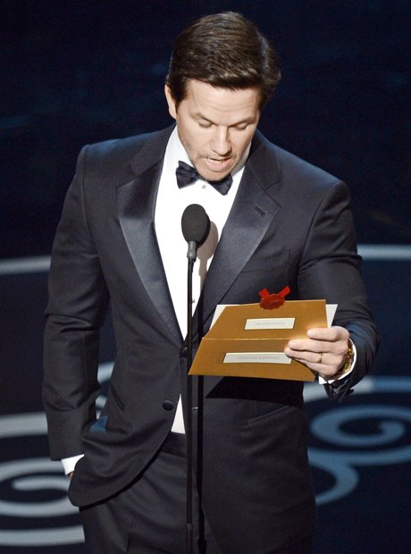 Mark Wahlberg on stage at the Oscars 2013 awards s