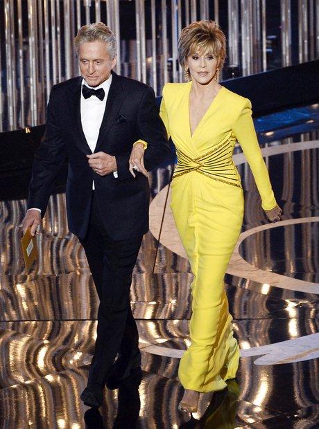 Michael Douglas and Jane Fonda at the Oscars 2013