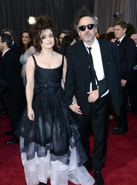 Tim Burton and Helena Bonham Carter  attends the O