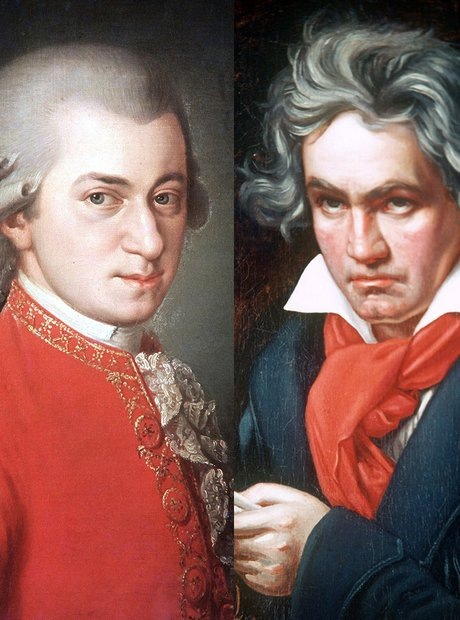 Image result for mozart and beethoven
