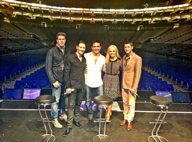 katherine jenkins and il divo on stage