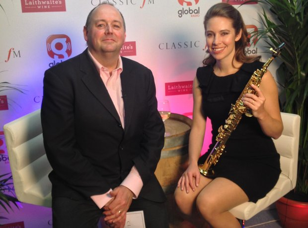 Amy Dickson Classic FM Live 2013 behind the scenes