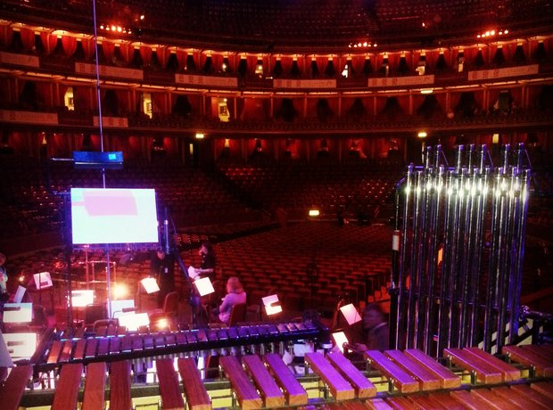 View from the orchestra - Royal Albert Hall