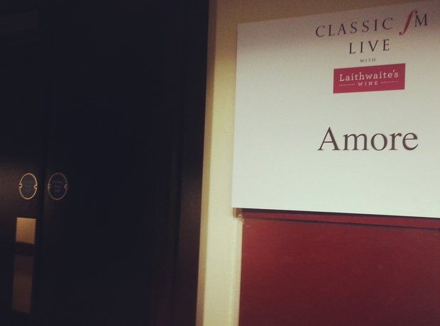 Classic FM Live 2013 dressing room for Amore