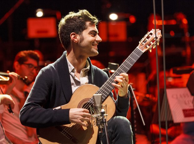 Miloš Karadaglić Classic FM Live 2013 rehearsals