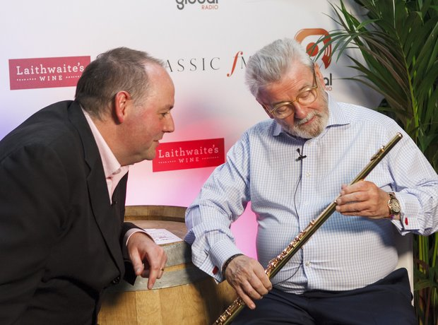 Sir James Galway Classic FM Live 2013 behind the s