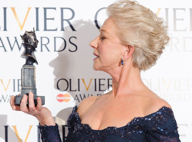 Dame Helen Mirren at the Olivier Awards 2013