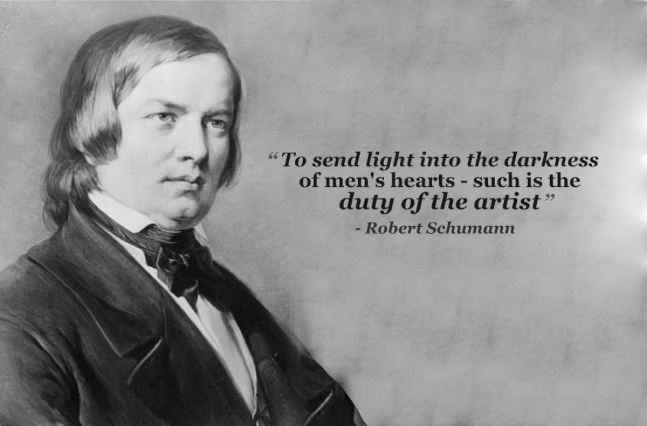 robert schumann send light into the darkness