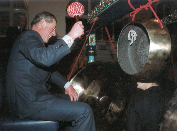 Prince Charles plays Gamelan