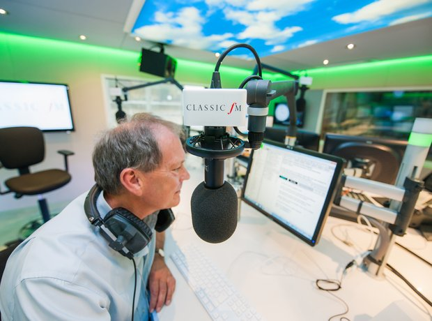 Alastair Yates Classic FM studio