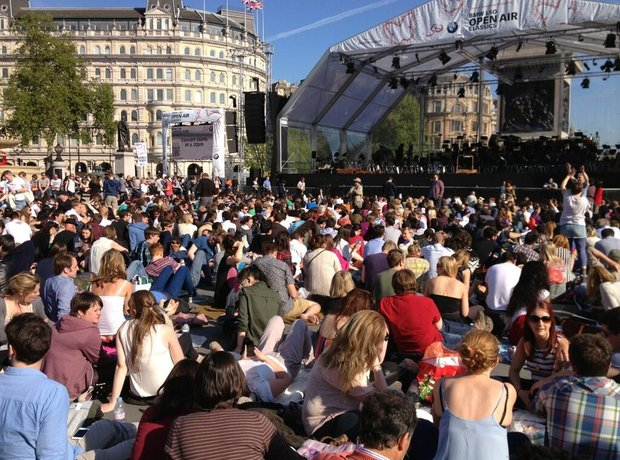 London Symphony Orchestra on Trafalgar Square
