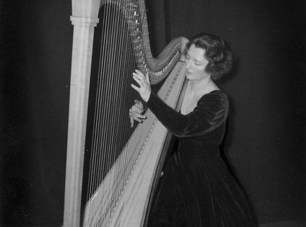 Harpist Edna Phillips Stokowski Fantasia