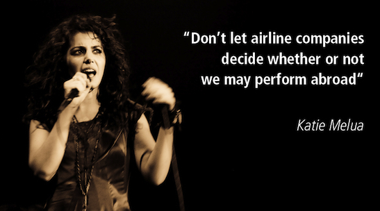 Katie Melua flying