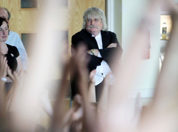 Karl Jenkins Q & A singing workshop ICAP Charity Classic FM Foundation