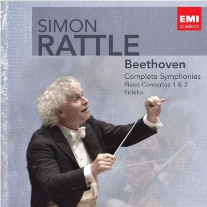 Rattle Beethoven album cover