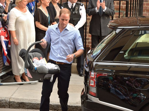 Prince Williams and Kate with baby boy
