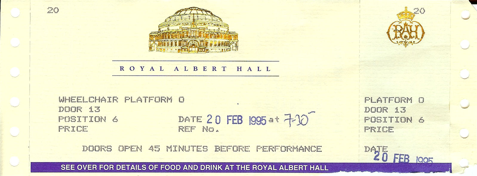 albert hall ticket