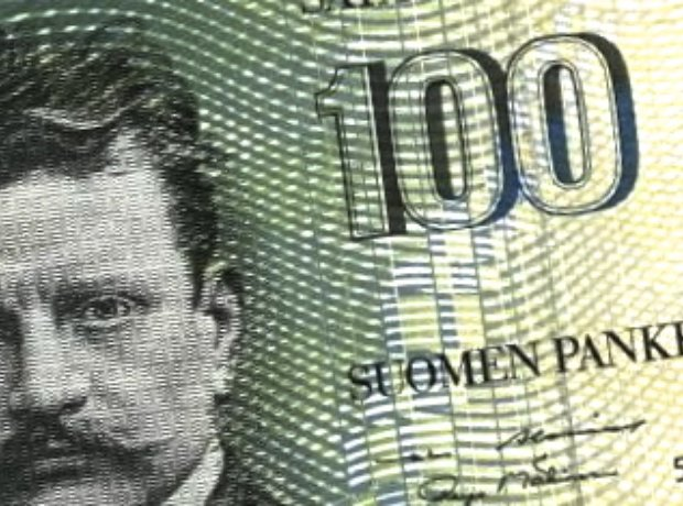 Sibelius banknote 100 marks Finland