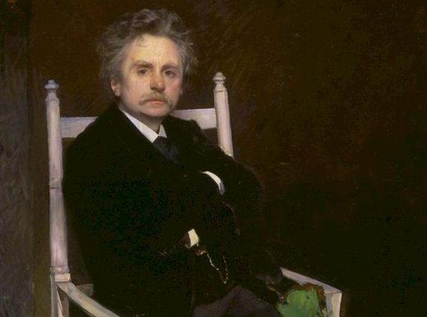 Grieg portrait composer Norwegian