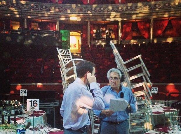 John Suchet in the Albert Hall