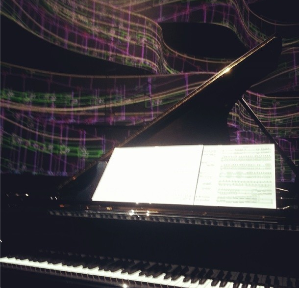 Lang Lang's piano at the Classic BRITs