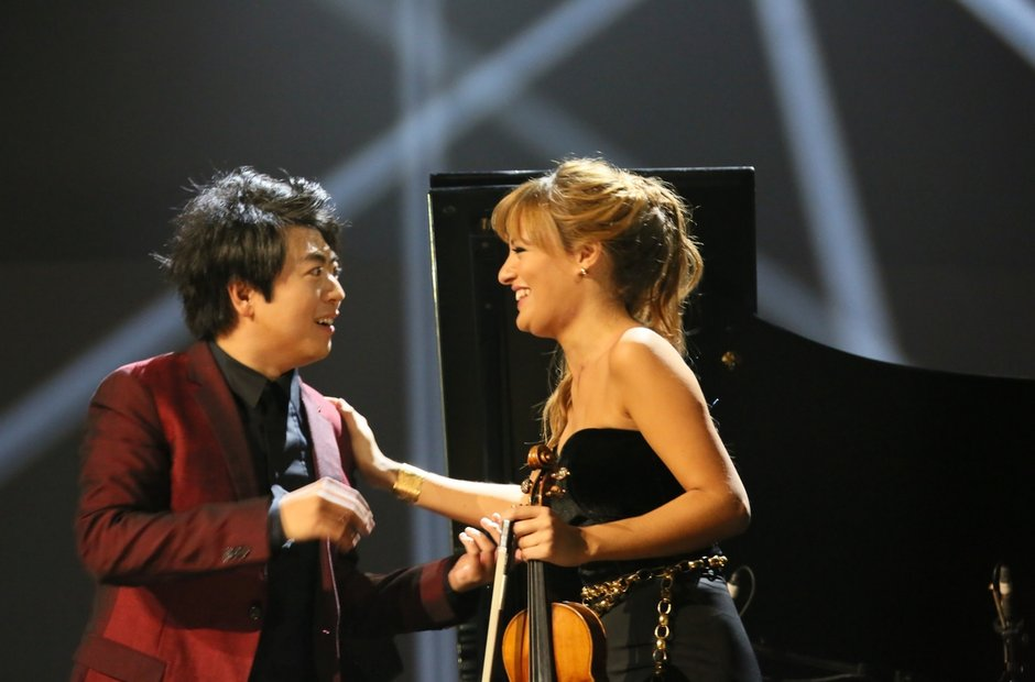 Lang Lang and Nicola Bendetti Classic Brit Awards
