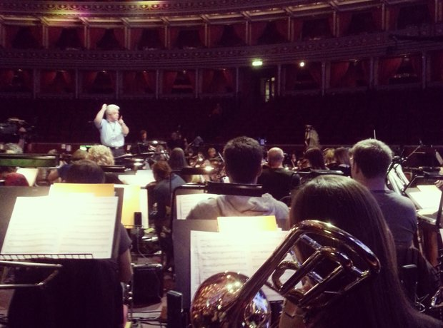 trombone on royal albert hall stage