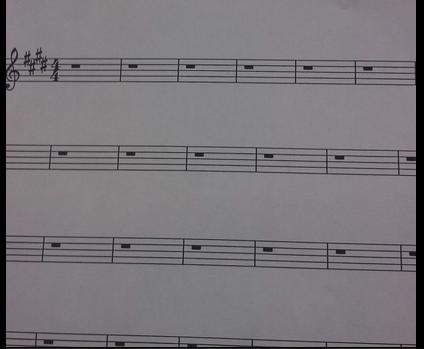 blank score